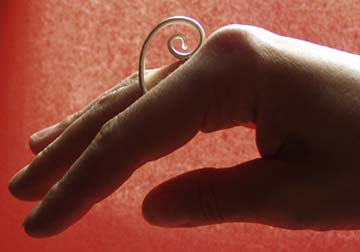 spiral ring by Kokot Schmuckdesign :  modern silver spirals jewellery